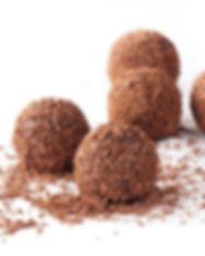 Brigadeiros de chocolate. Libre de Azúcar. Apto para diabeticos. Endulzado con Stevia.