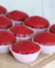 Cupcake de Red Velvet. Libre de Azúcar. Apto para diabeticos. Endulzado con Stevia.
