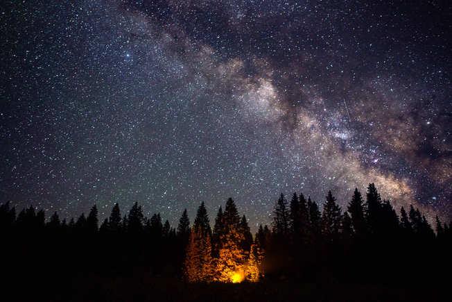 Galaxy and Campfire