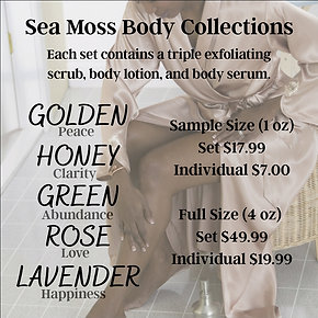 Sea Moss Body Collections