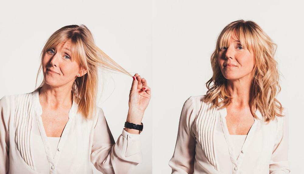 Hairtalk Hair Extension før og etter #3