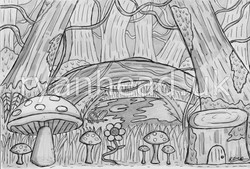 Enchanted Forest Concept Drawing