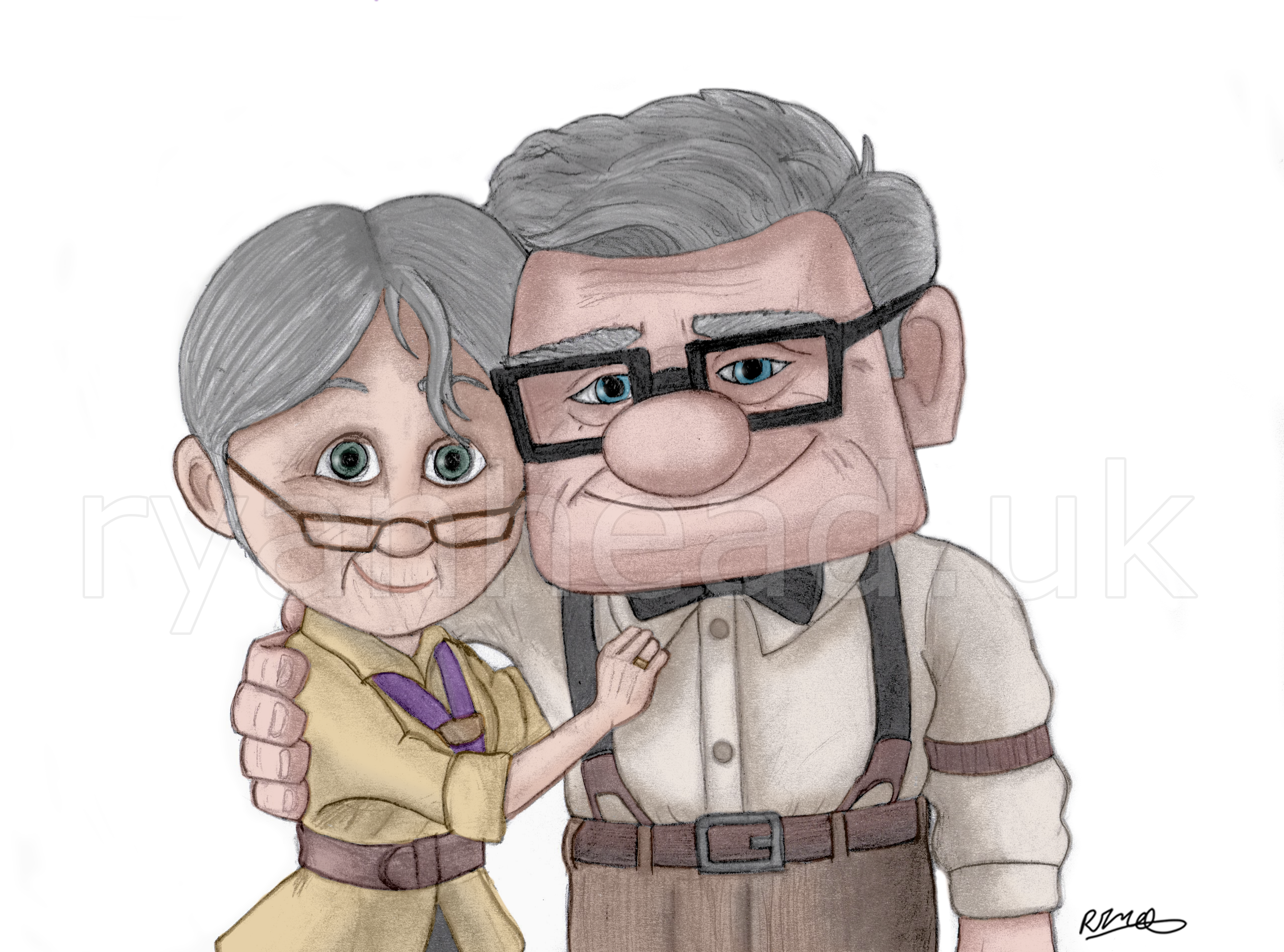 'Up' Character Drawing