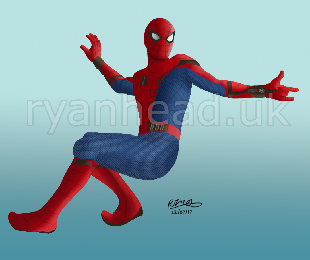 Spider-Man Digital Drawing