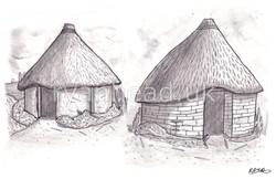Celtic Village Sketch
