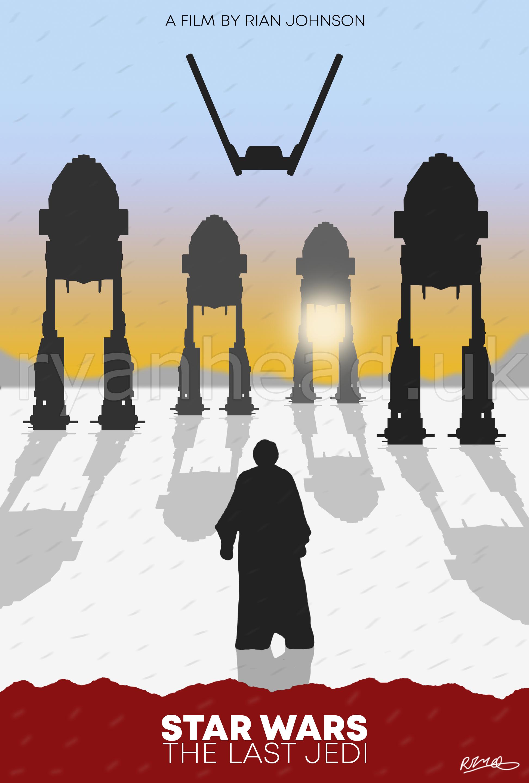 'The Last Jedi' Minimalist Poster