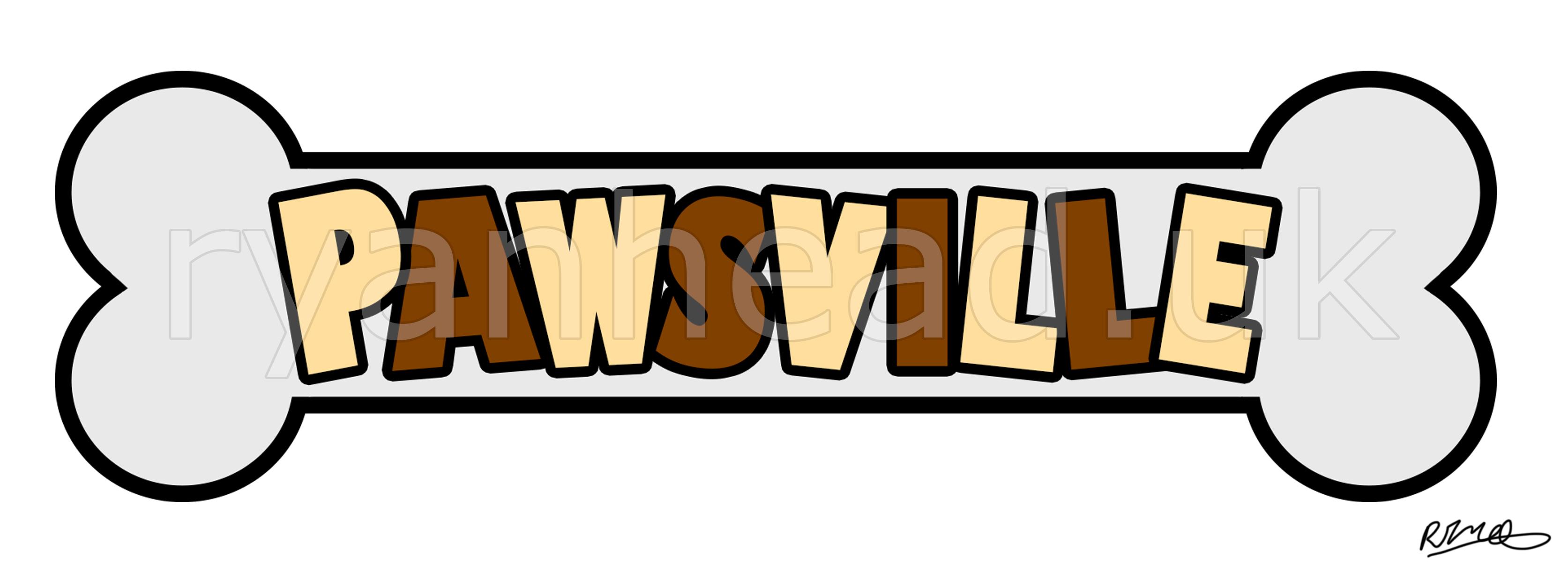'Pawsville' Logo