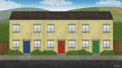 Meadow Road Background - Day