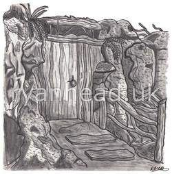 Forest Hut Sketch