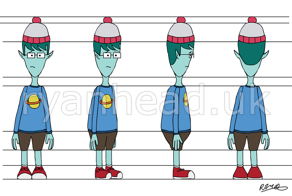 Alien Turnaround Sheet