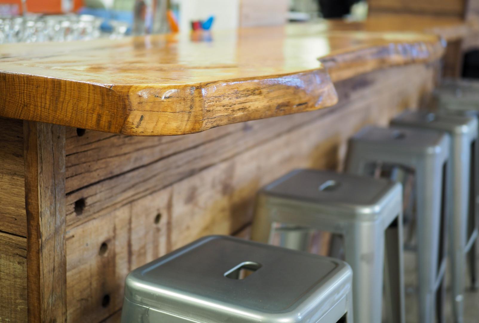 White Oak Slab Bar