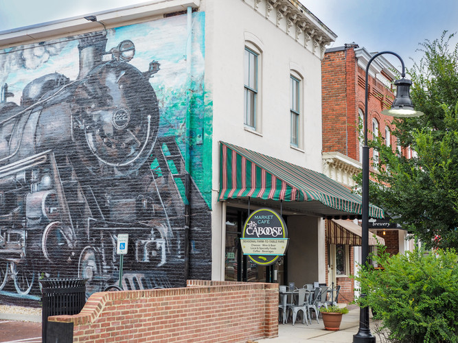 Located Along The Railroad Tracks Of Historic Downtown Ashland