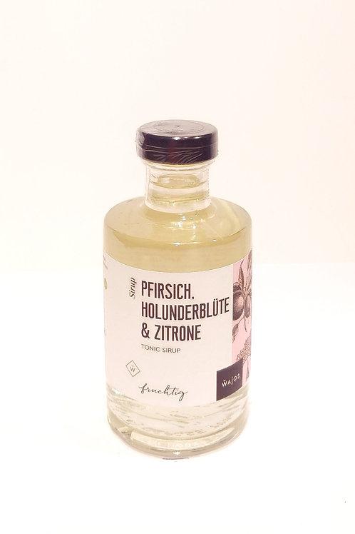 PFIRSICH, HOLUNDERBLÜTE & ZITRONE - TONIC SIRUP Inhalt: 200 ml