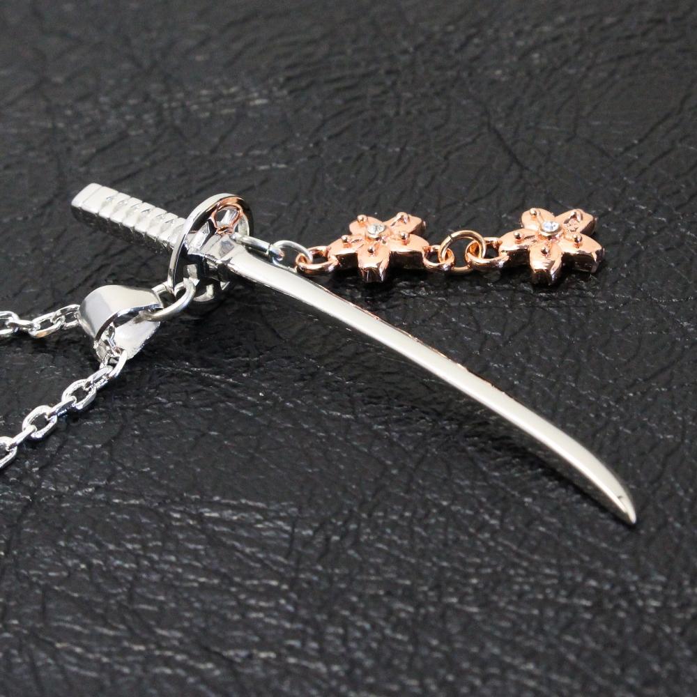 日本刀と桜ネックレス【桜色】11