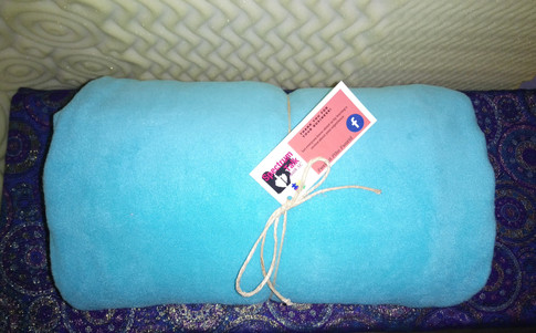 turquoise blue weighted blanket