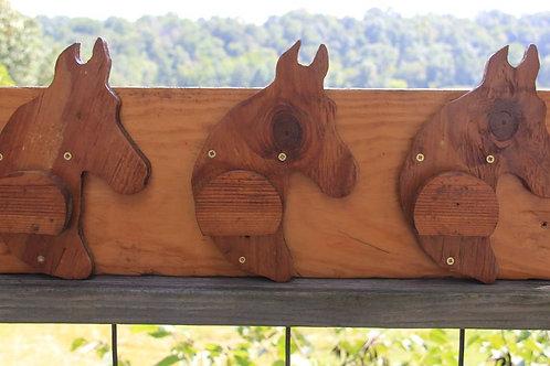Wood Bridle Rack