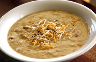 Potato Cheese & Basil Soup