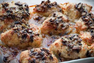Savory Baked Chicken and Mushroom