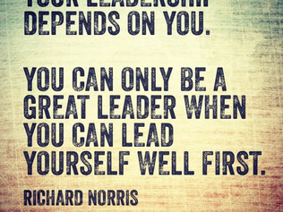 A Leader... That's what I want to be when I grow up
