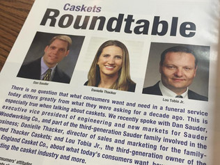 Check out the 'Caskets Roundtable' in the November issue of American Funeral Director