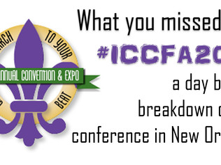 What you missed at ICCFA 2016 - A day by day breakdown