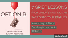 "7 Grief Lessons from ""Option B"" that you can pass onto your families... [part 1]"