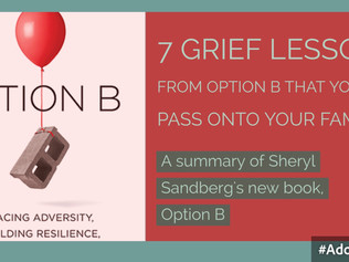 "7 Grief Lessons from ""Option B"" that you can pass onto your families... [part 2]"