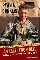 "Paperback image of ""An Angel From Hell: Real Life on the Front Lines"" by Ryan A. Conklin"