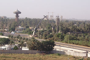 Baghdad, Iraq with Crossed Sabers in 2005