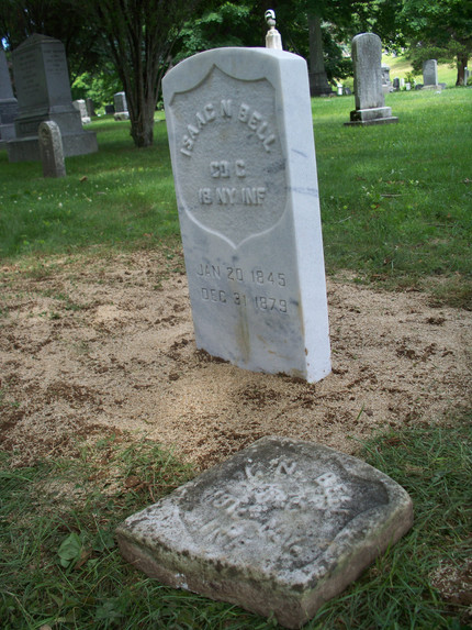 Bell Gets Headstone Replacement