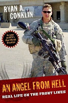 "Hardcover image of ""An Angel From Hell: Real Life on the Front Lines"" by Ryan A. Conklin"