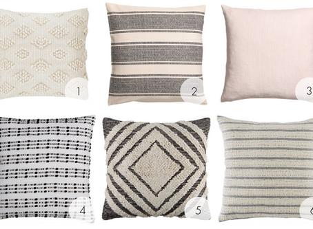 Neutral but Textured Throw Pillows