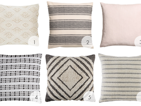 Neutral but Textured Throw Pillows