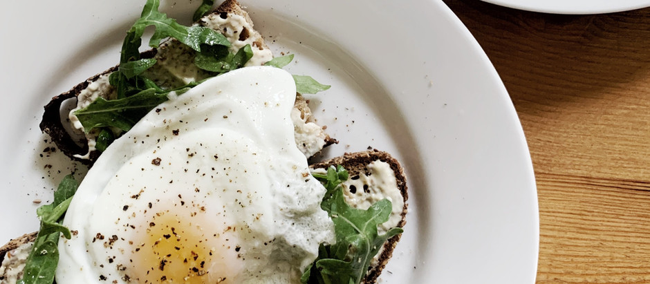 Basted Egg Tartines with Creamed Mustard