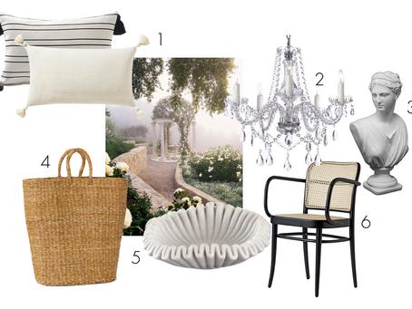 Home Decor Inspired by a Dreamy Santa Barbara Garden Estate
