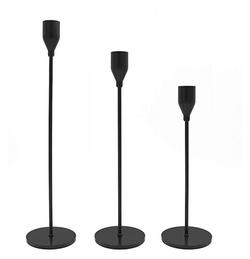 matte black candle holders