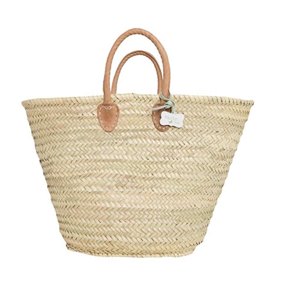 french straw market bag
