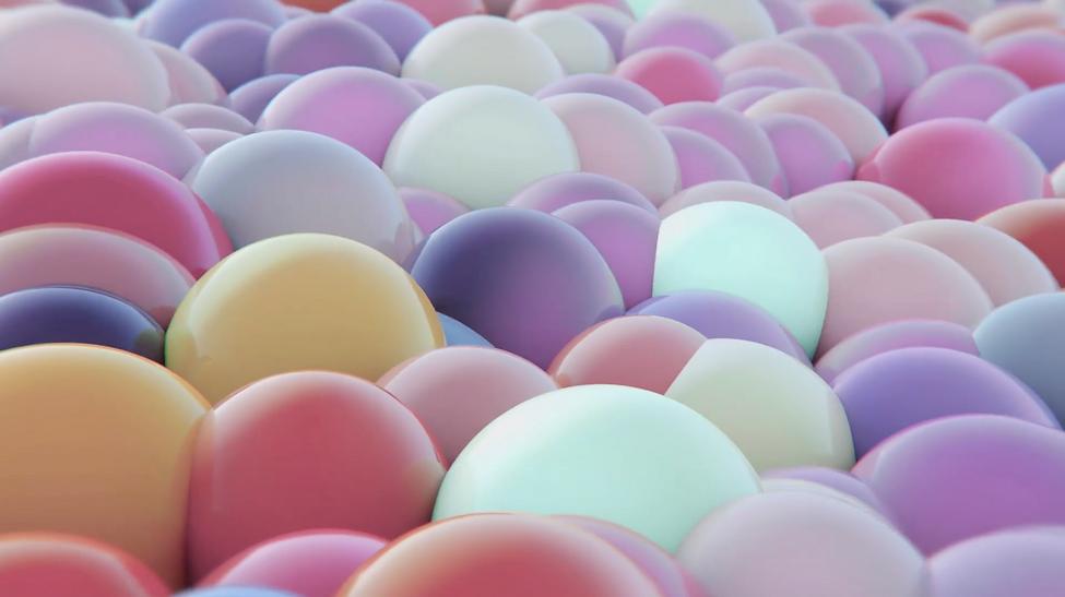 Colourful balls for la roche-posay