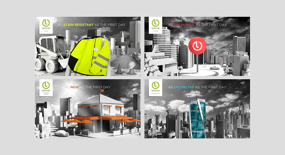 Creative 3D key visuals of Lamoral