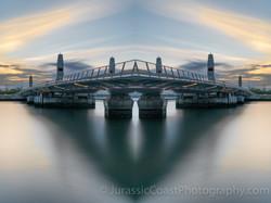 Poole Bridge In Reflection
