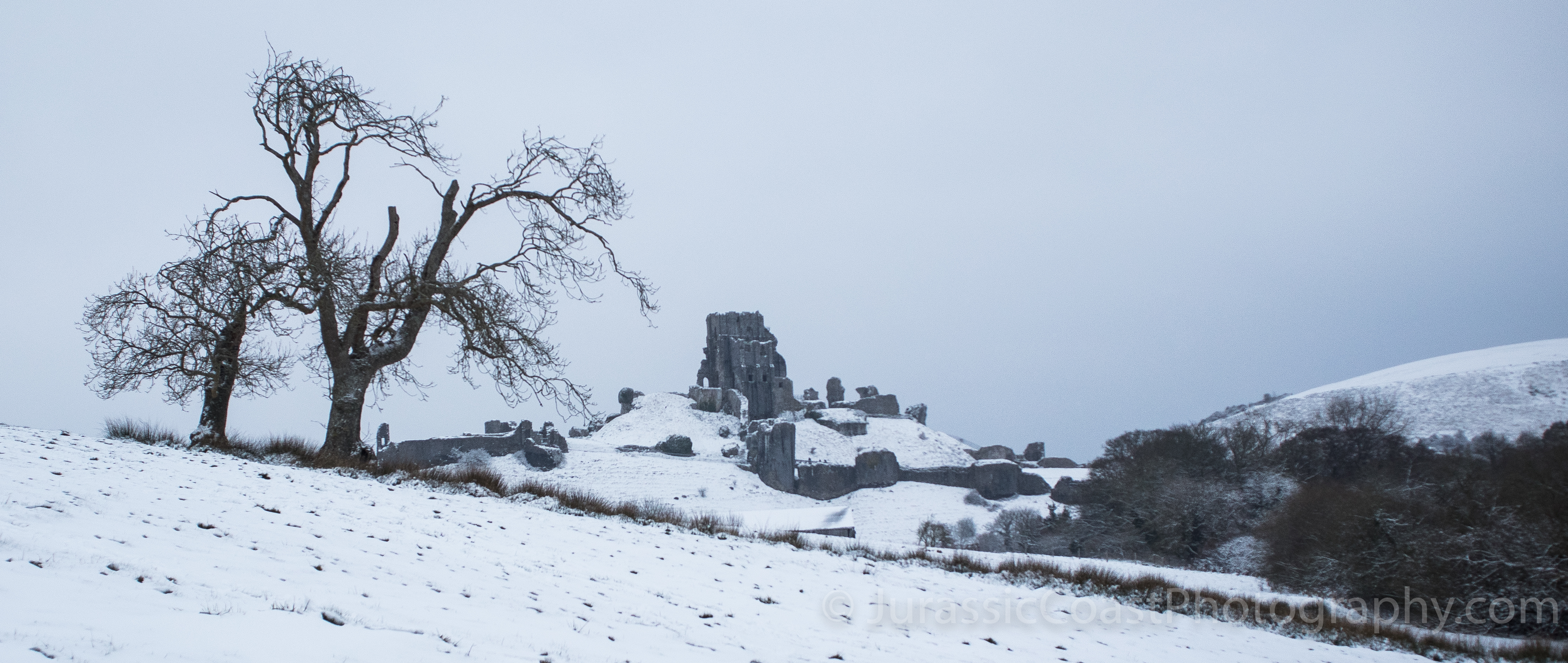 Corfe Castle In The Snow