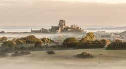 Corfe on a misty morning