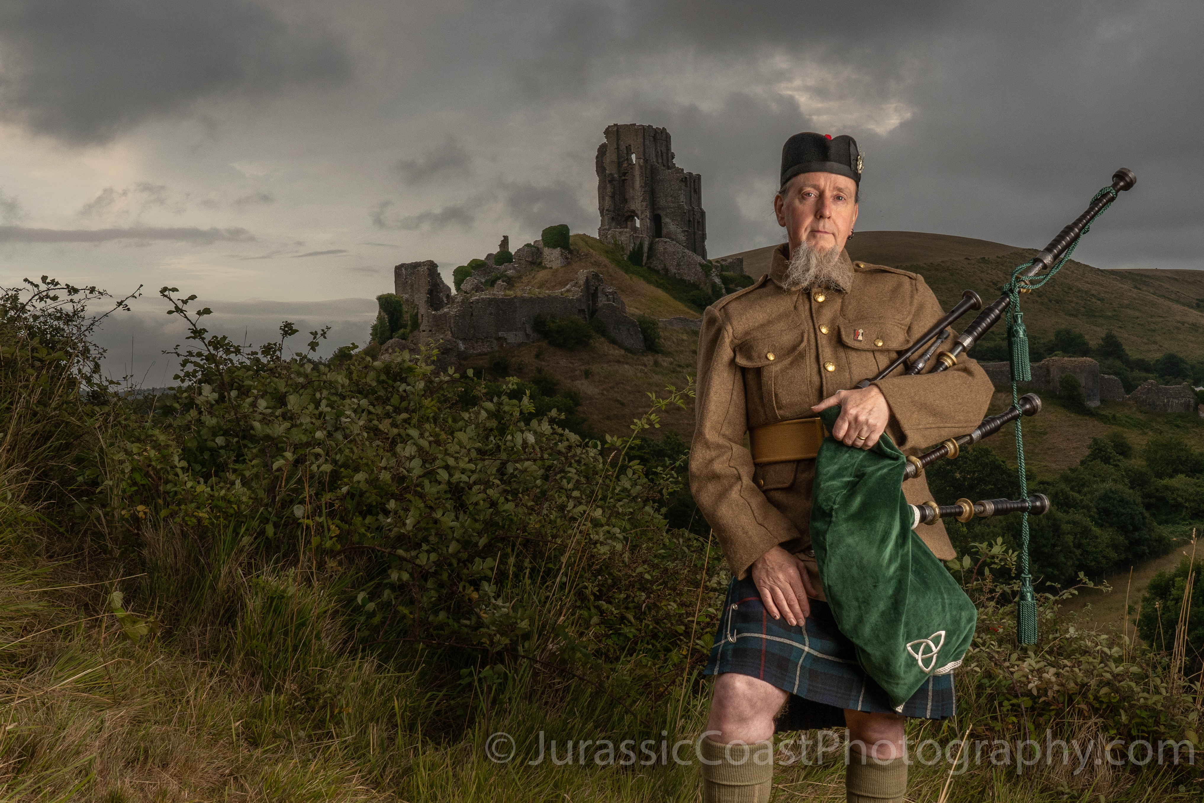 The Piper At Corfe Castle