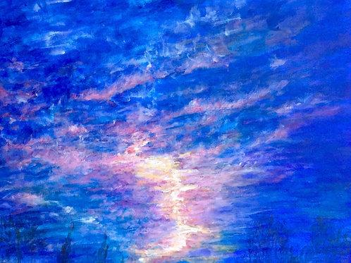 Comme un éclair, la lumière déchire le Ciel