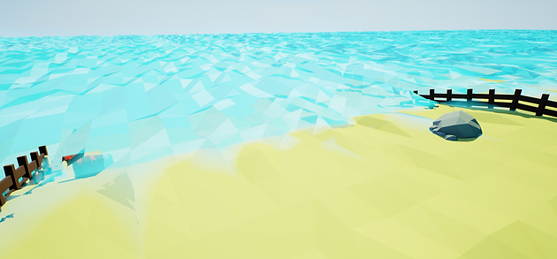 Low Poly Style Water Shader