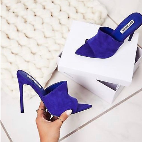 Royal Blue Pointed Toe Pumps