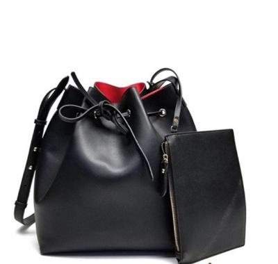 GALIAN Black Drawstring Sak with Wristlet