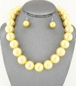 Yellow Pearl Choker