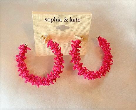 Hot Pink Hoops