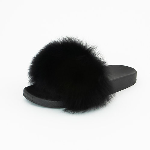 Black Furry Slide